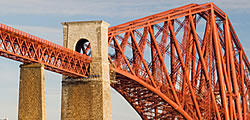 The south pier and girder section of the Forth Bridge