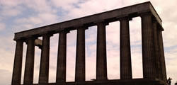 The National Monument on Calton Hill, Edinburgh from the west